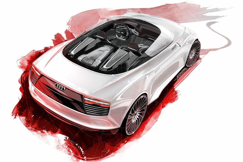 Audi e-tron Spyder design sketch Pic: Audi | Audi e-tron Spyder design sketch