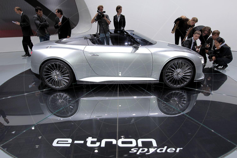 Audi e-tron Spyder making its debut Pic: magiccarpics.co.uk | Audi e-tron Spyder making its debut