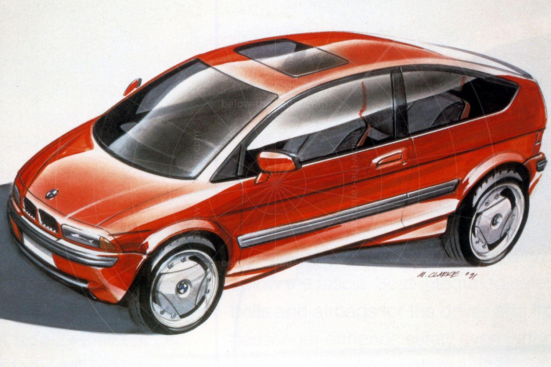 BMW E1 Mk1 design sketch Pic: BMW | BMW E1 Mk1 design sketch