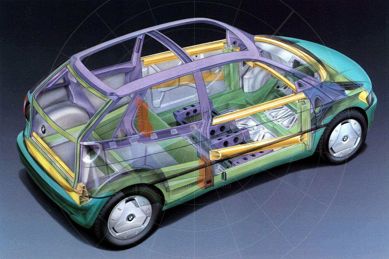 BMW E1 Mk2 cutaway Pic: BMW | BMW E1 Mk2 cutaway