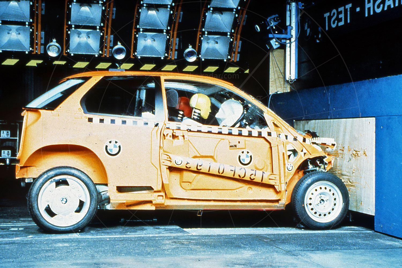 BMW E1 Mk2 crash testing Pic: BMW | BMW E1 Mk2 crash testing